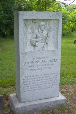 Anthony Sadowski Tercentary Memorial image. Click for full size.