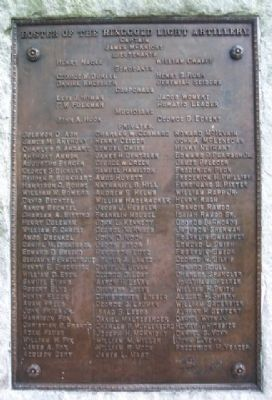 Ringgold Light Artillery Roster Marker image. Click for full size.