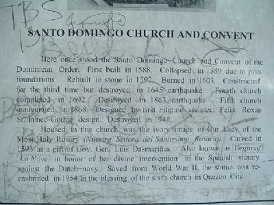 Santo Domingo Church and Convent Marker image. Click for full size.