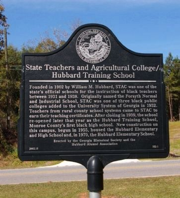 State Teachers and Agricultural College/Hubbard Training School Marker image. Click for full size.