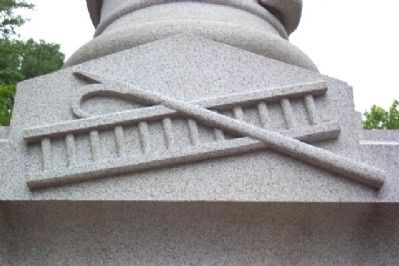 Hook and Ladder on Volunteer Firemen Memorial image. Click for full size.