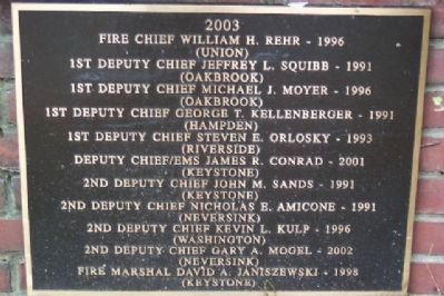 2003 Volunteer Fire Leadership image. Click for full size.