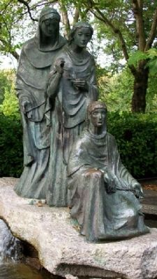 "The ""Three Fates"" Statuary image. Click for full size."