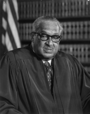Justice Thurgood Marshall image. Click for full size.