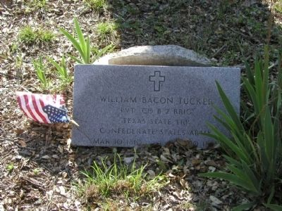William Baker Tucker Tombstone image. Click for full size.