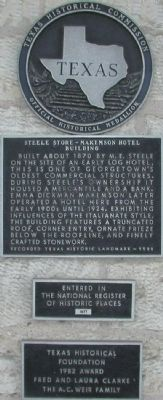 Steele Store - Makemson Hotel Building Marker image. Click for full size.
