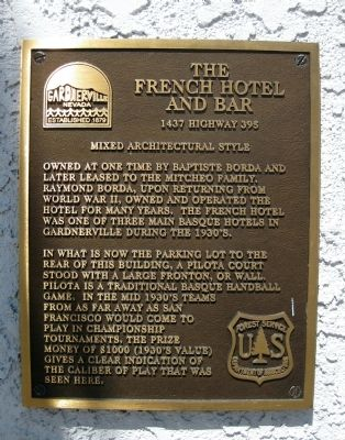 The French Hotel and Bar Marker image. Click for full size.