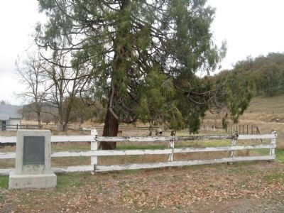 Lavers Crossing Marker and Lavers Ranch image. Click for full size.
