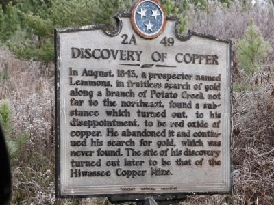 Discovery of Copper Marker image. Click for full size.
