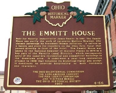 The Emmitt House Marker (Side A) image. Click for full size.