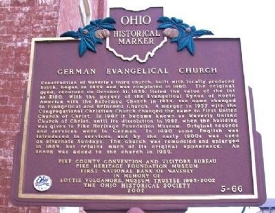 German Evangelical Church Marker (Side A) image. Click for full size.