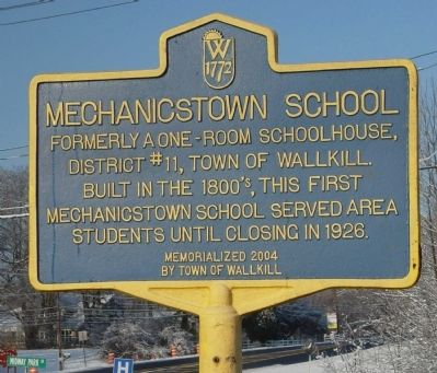 Mechanicstown School Marker image. Click for full size.