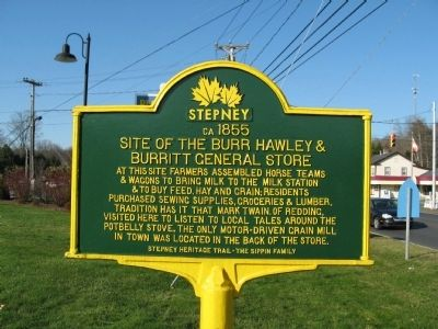 Burr Hawley & Burritt General Store Marker image. Click for full size.