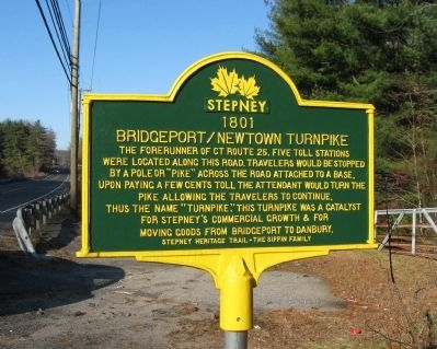 Bridgeport / Newtown Turnpike Marker image. Click for full size.