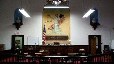 Pike County Courthouse Courtroom image. Click for full size.