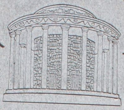 The rendering above is a replica of Mayor Ward's Vestavia Temple. image. Click for full size.