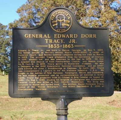 General Edward Dorr Tracy, Jr. Marker image. Click for full size.