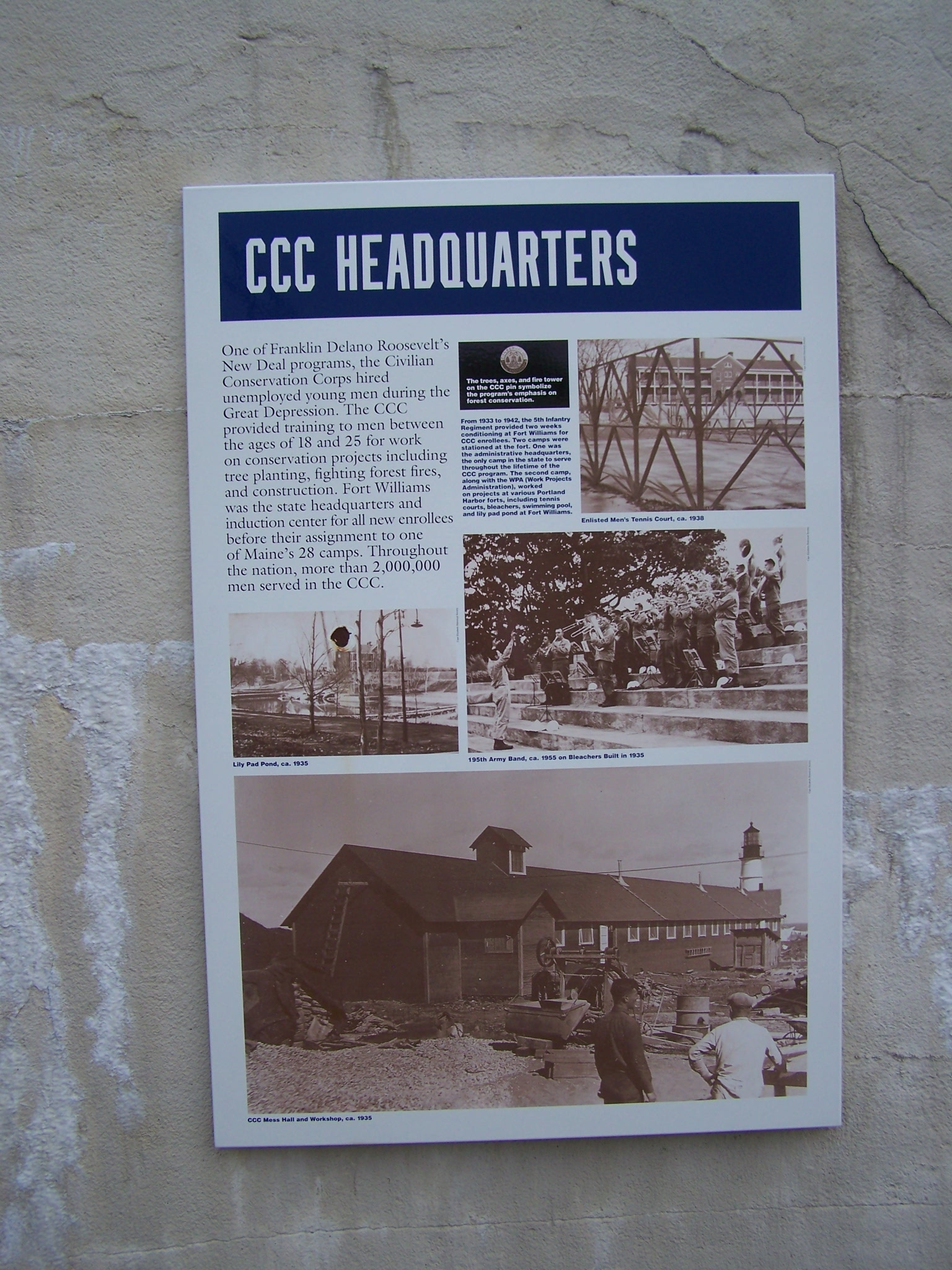 CCC Headquarters Marker