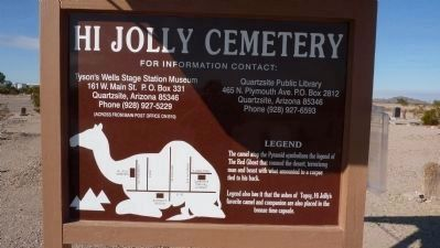 The Hi Jolly Cemetery, Quartsite, AZ image. Click for full size.