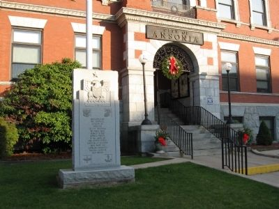 Ansonia Veterans Memorial image. Click for full size.