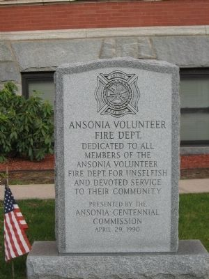 Ansonia Volunteer Firemen's Monument image. Click for full size.
