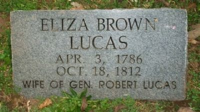Eliza Brown Lucas Replacement Grave Marker image. Click for full size.