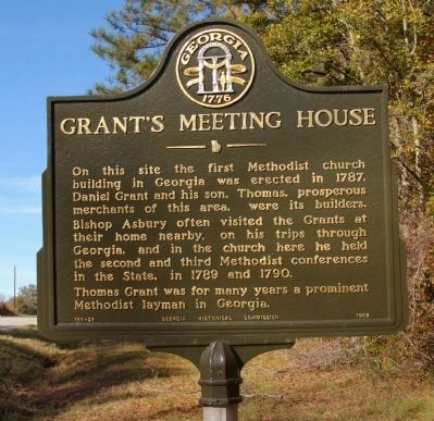 Grant's Meeting House Marker image. Click for full size.