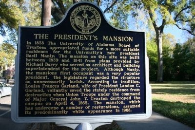 The President's Mansion Marker image. Click for full size.