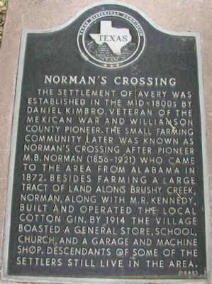 Norman's Crossing Marker image. Click for full size.