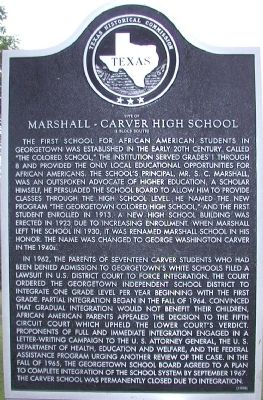 Site of Marshall-Carver High School Marker image. Click for full size.