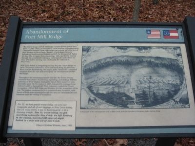Abandonment of Fort Mill Ridge Marker image. Click for full size.