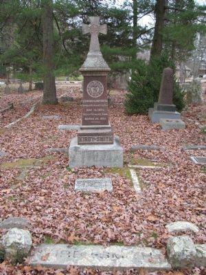 Edmund Kirby Smith Grave marker image. Click for full size.
