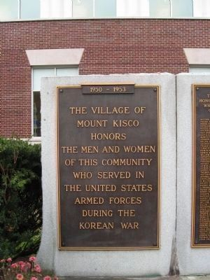 Korean War Plaque image. Click for full size.