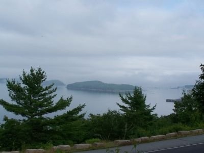 Frenchman Bay on a foggy day. image. Click for full size.