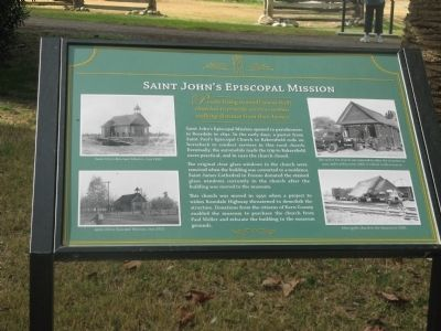 Saint John's Episcopal Mission Marker image. Click for full size.