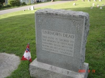 Memorial to Unknown Confederate Dead in the Cemetery image. Click for full size.