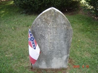 Grave of Jesse Barton image. Click for full size.