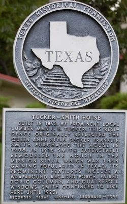 Tucker-Smith House Marker image. Click for full size.