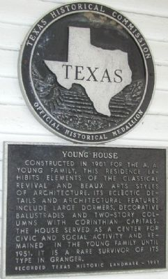 Young House Marker image. Click for full size.