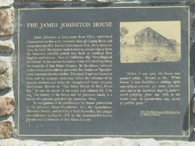 The James Johnston House Marker image. Click for full size.