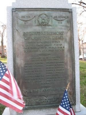 Secaucus World War II Memorial Marker image. Click for full size.