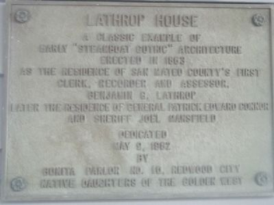Lathrop House Marker image. Click for full size.
