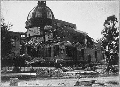 Courthouse Showing Damage From the 1906 San Francisco Earthquake image. Click for full size.