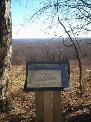 Marker on the Mt. Kemble loop trail image. Click for full size.