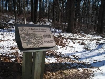 Marker in Jockey Hollow image. Click for full size.