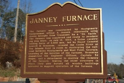 Janney Furnace Marker image. Click for full size.