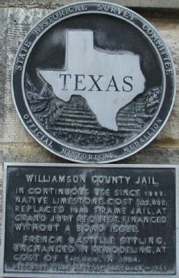 Williamson County Jail Marker image. Click for full size.