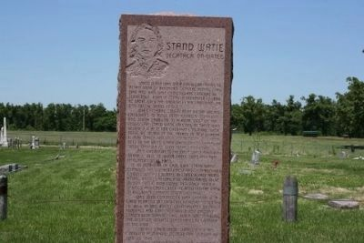 Stand Watie Marker image. Click for full size.