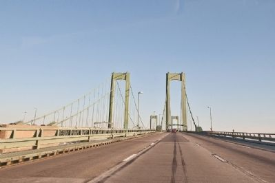 Delaware Memorial Bridge as seen driving into The Garden State (Jersey) image. Click for full size.