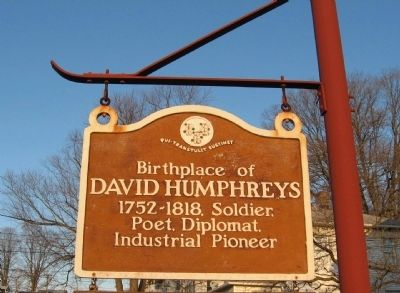 Birthplace of David Humphreys Marker image. Click for full size.